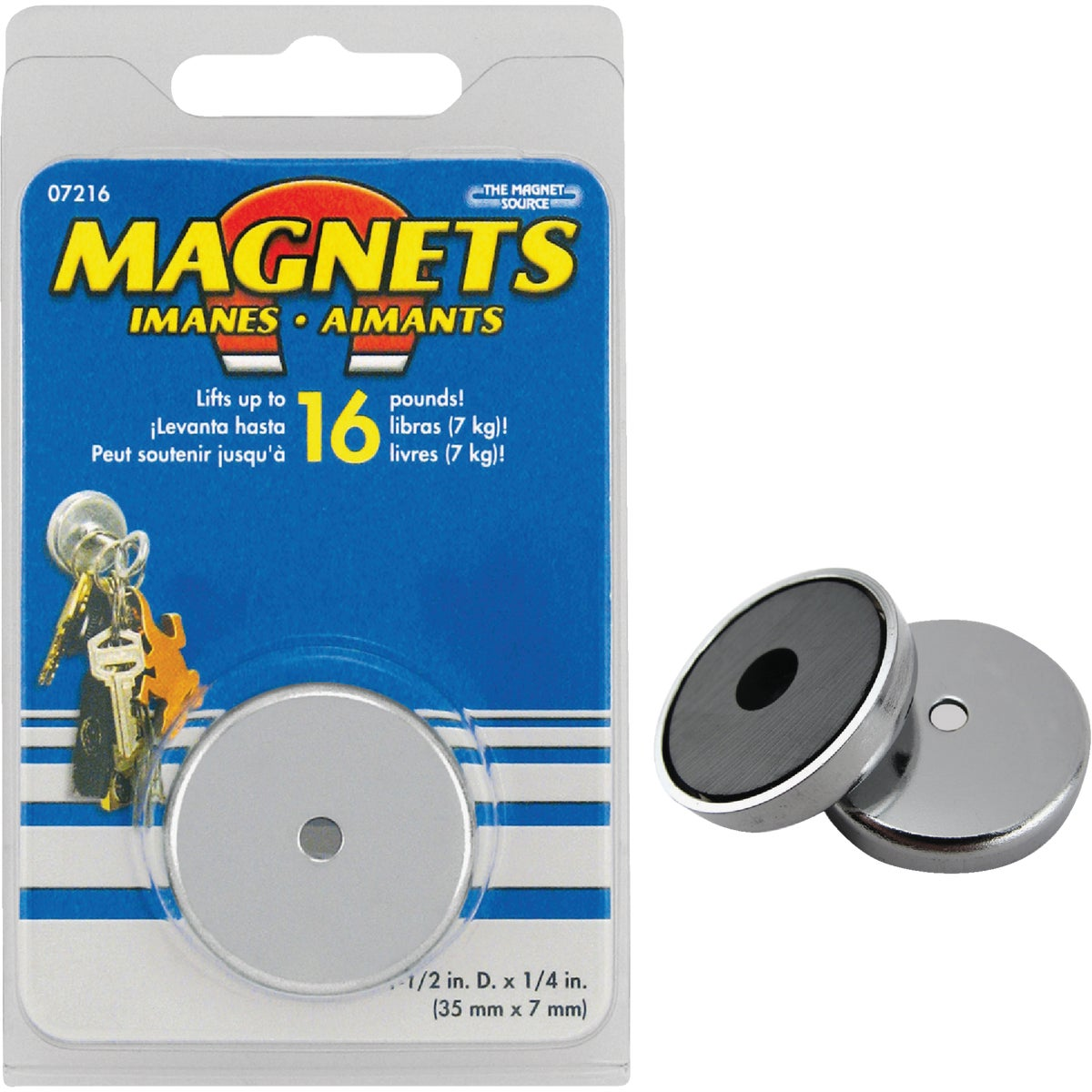 "1-3/8"" MAGNETIC BASE - 07216 by Master Magnetics"
