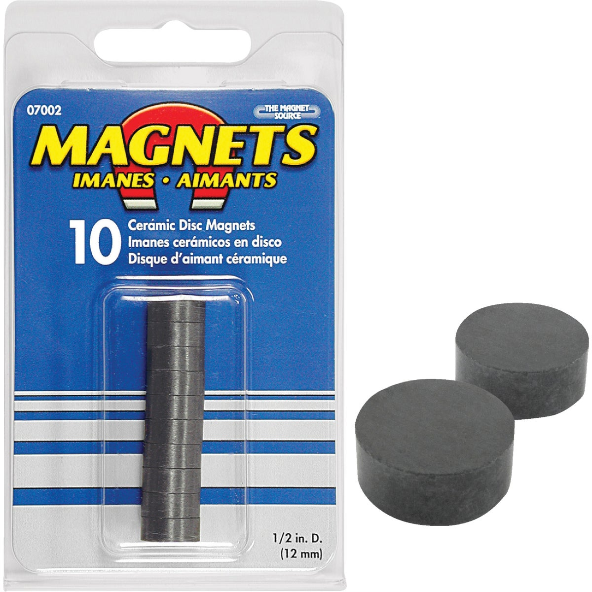 10PC CERAMIC DISC MAGNET - 07002 by Master Magnetics