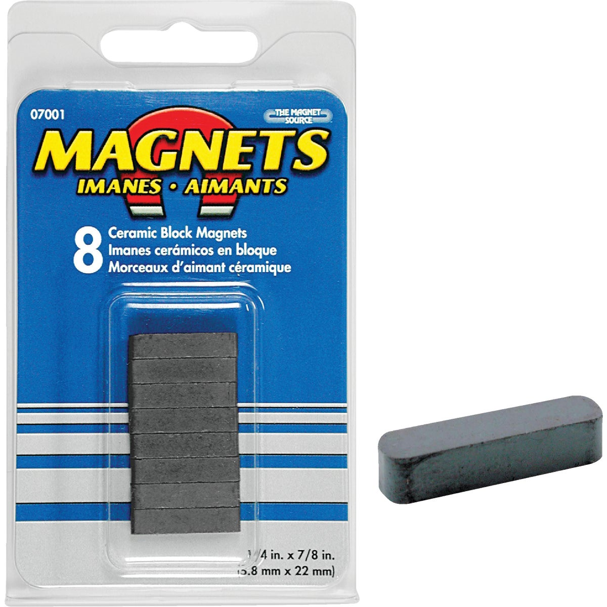 CERAMIC MAGNETIC BLOCK - 07001 by Master Magnetics
