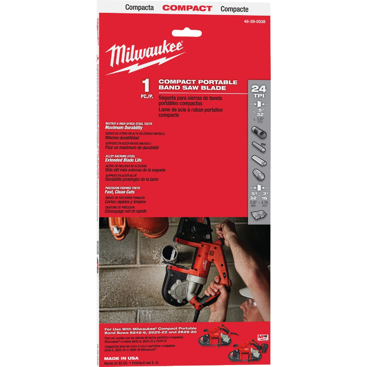 "24T 35-3/8"" SAW BLADE - 48-39-0538 by Milwaukee Accessory"