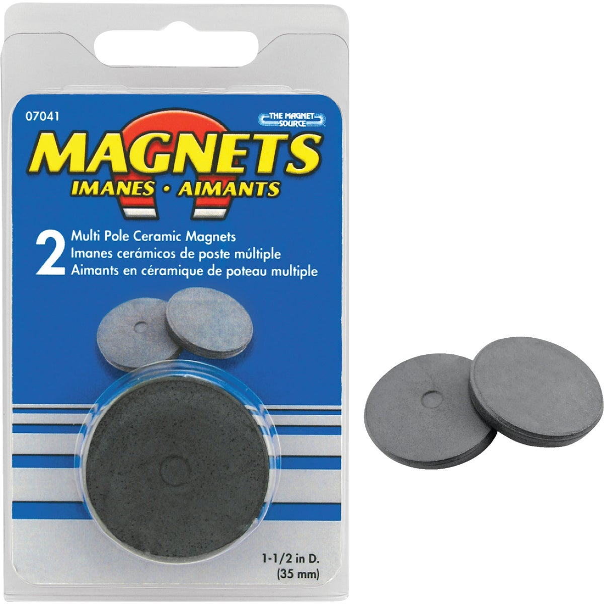 2PC CERAMIC DISC MAGNET - 07041 by Master Magnetics