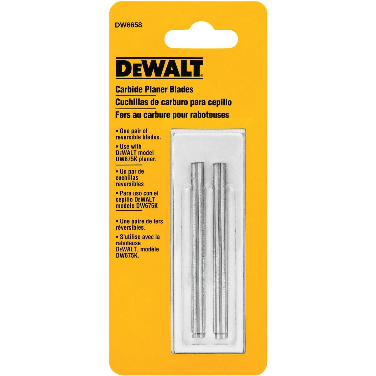 "3-1/8"" PLANER BLADE - DW6658 by DeWalt"