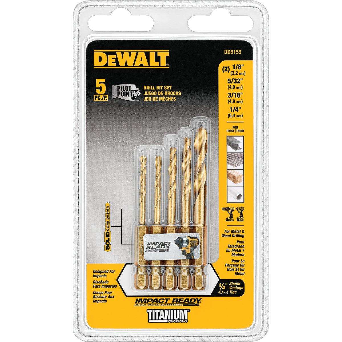 5PC IMPACT DRILLING SET - DD5055 by DeWalt
