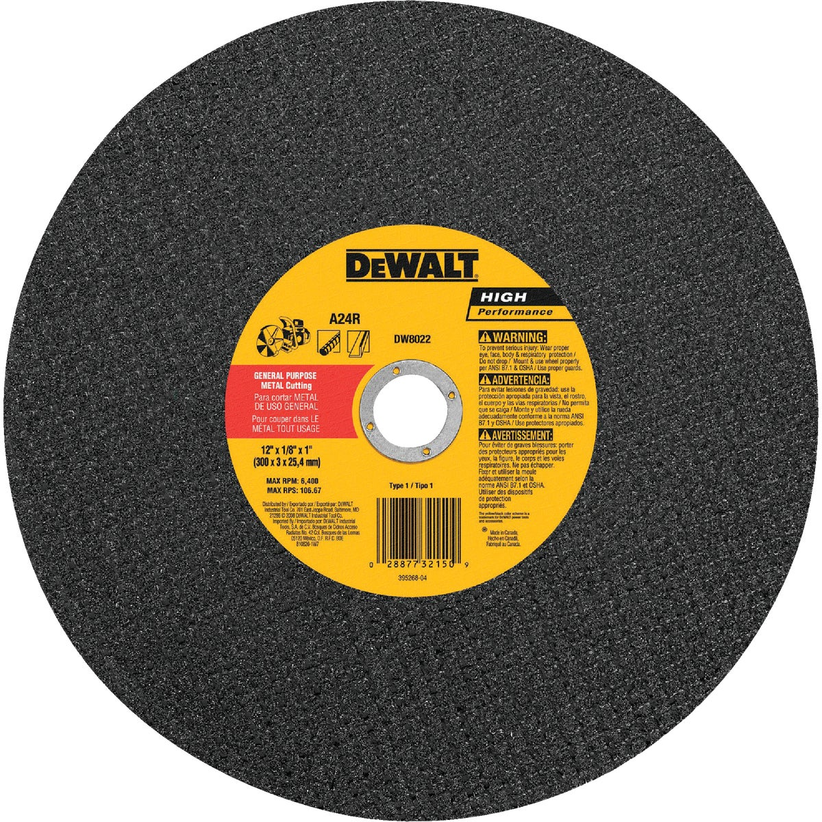 "12"" 1/8X1 METAL BLADE - DW8022 by DeWalt"