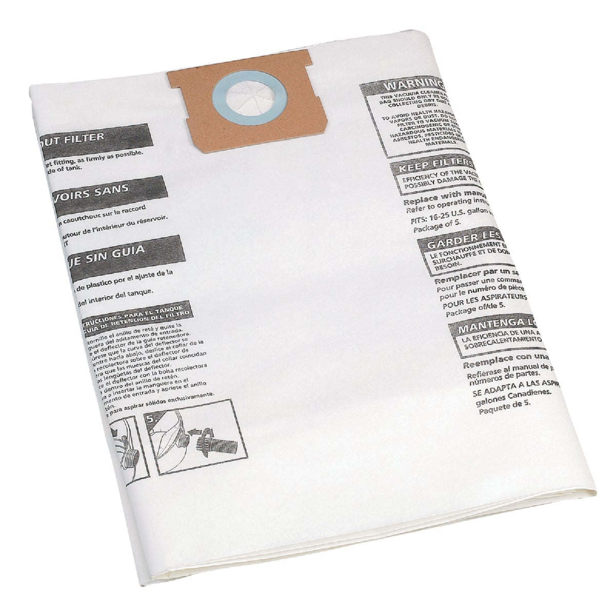 LRG PAPER COLLECTION BAG - 9066300 by Shop Vac Corp