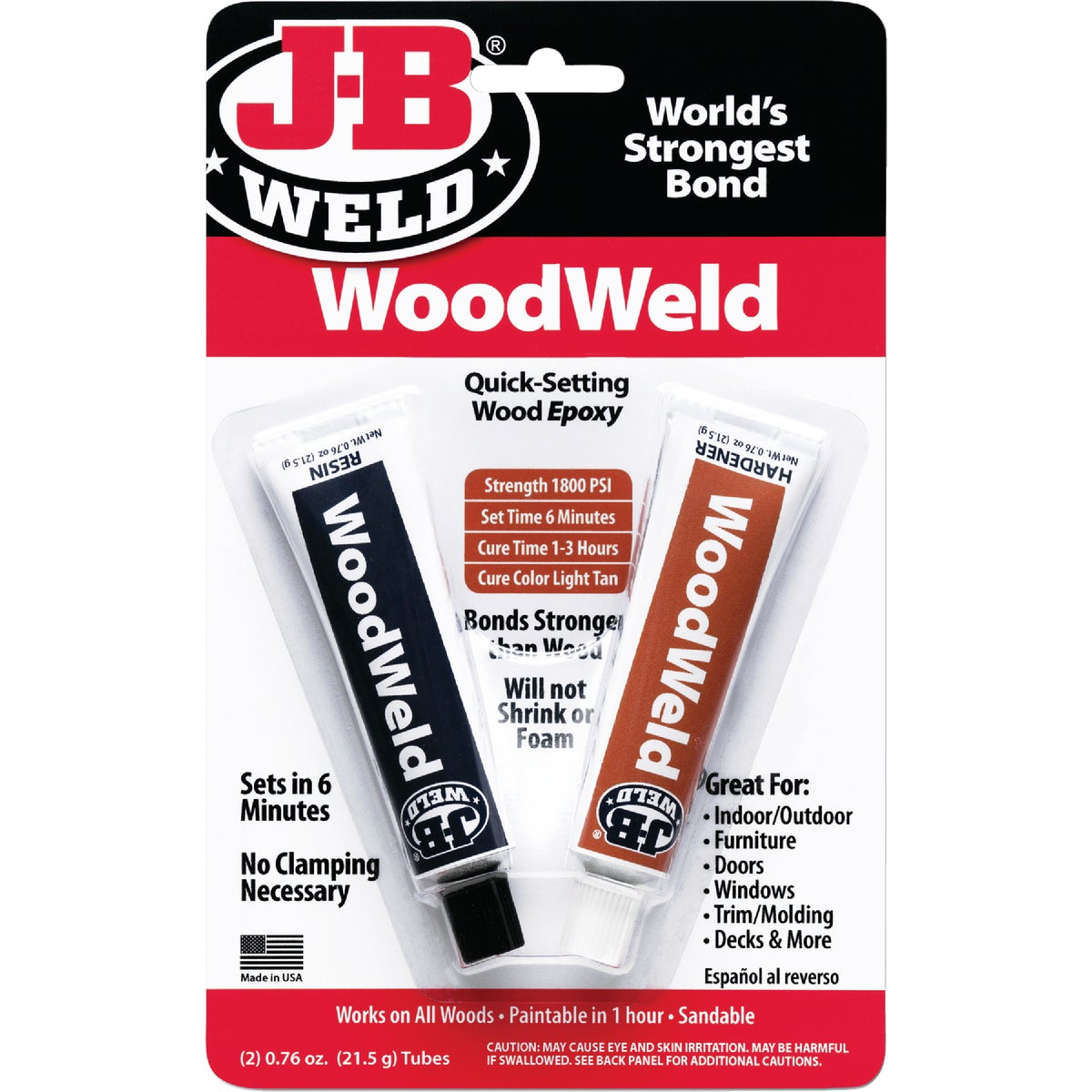 2OZ WOODWELD EPOXY - 8251 by J B Weld Co