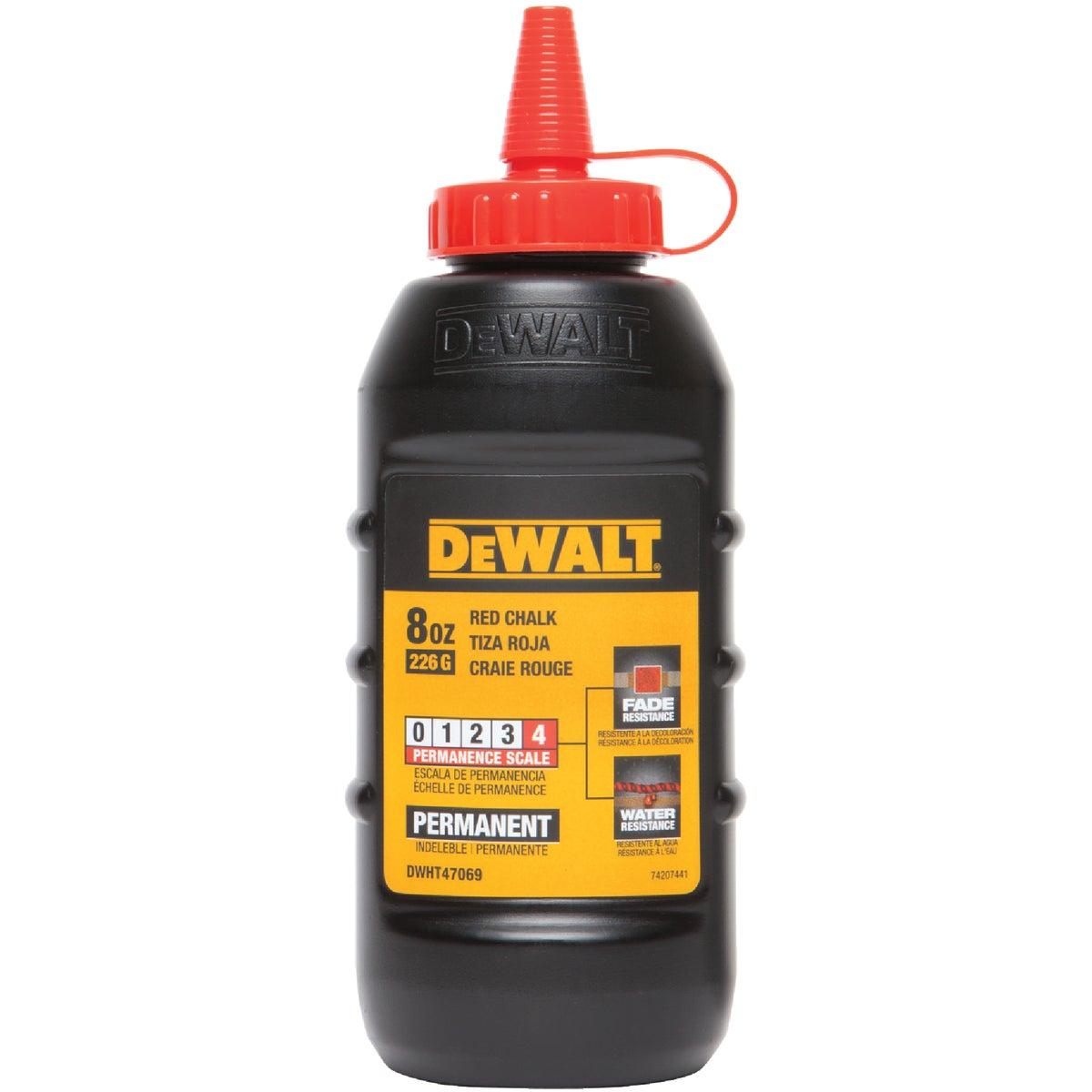 DeWalt 8 Oz. Red Permanent Chalk Line Chalk