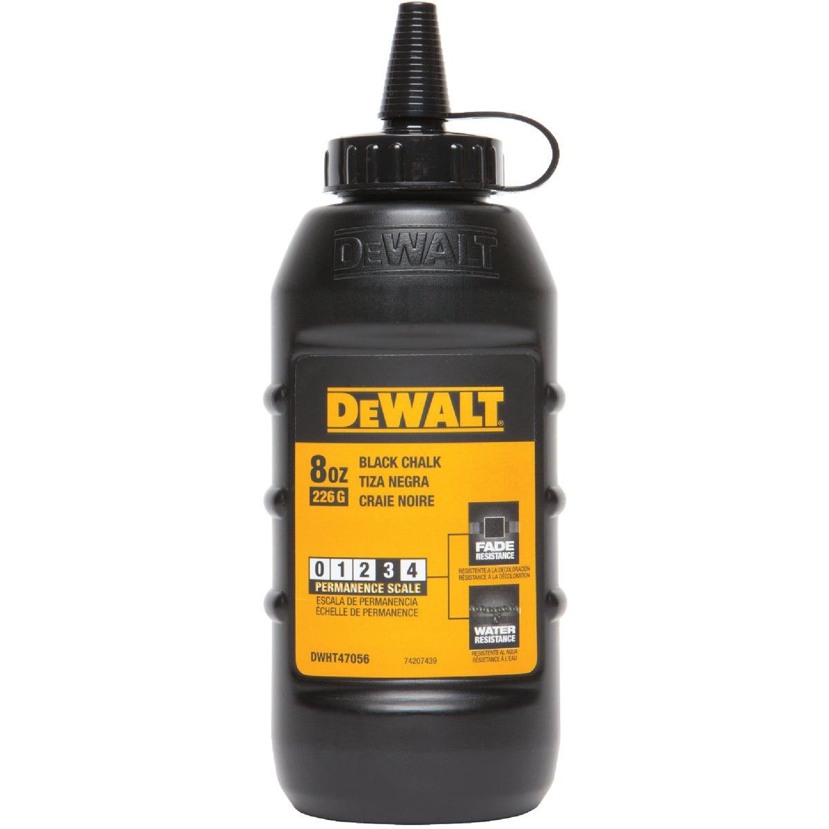 DeWalt 8 Oz. Black Chalk Line Chalk