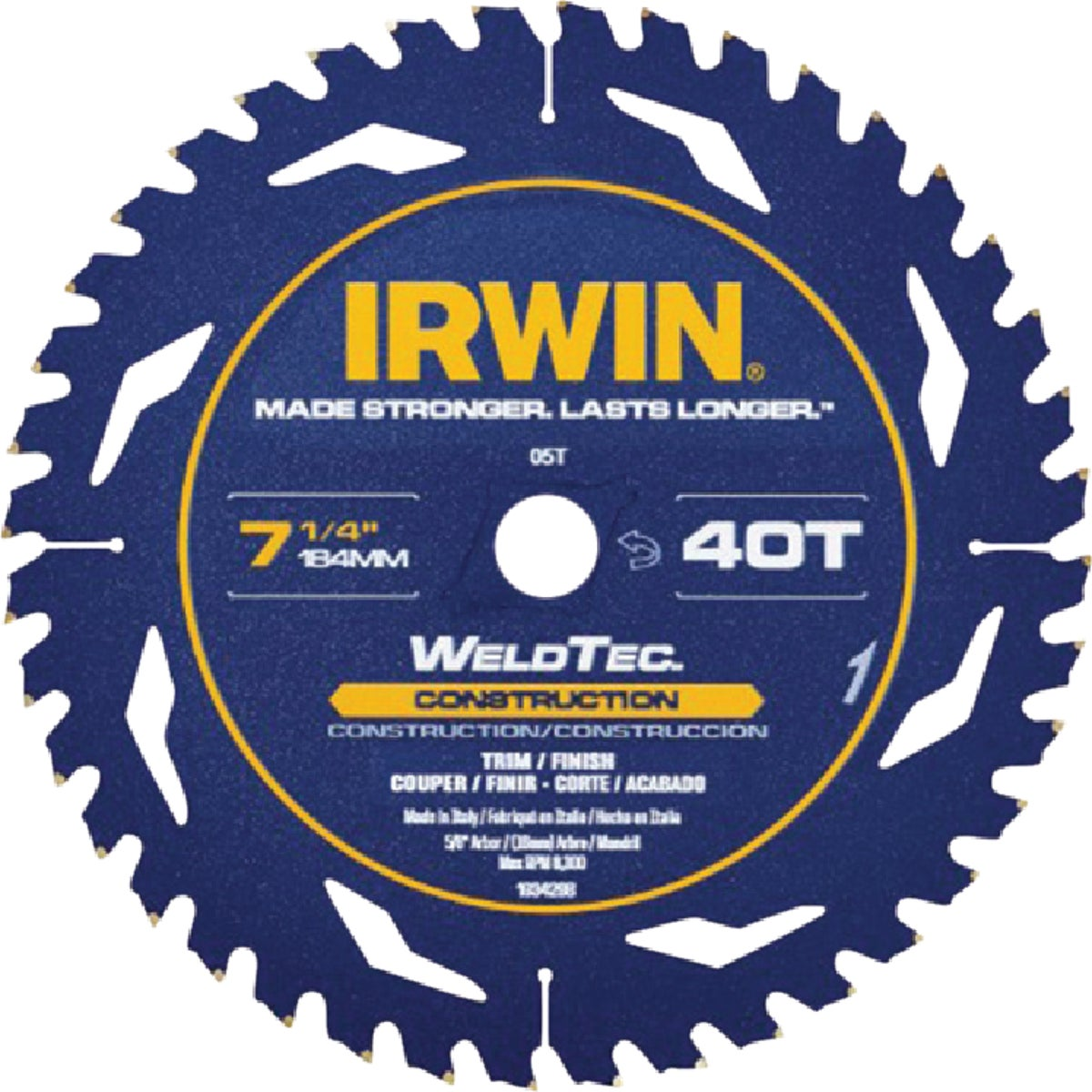 "7-1/4"" 40T WELDTEC BLADE - 4935200 by Irwin Industr Tool"