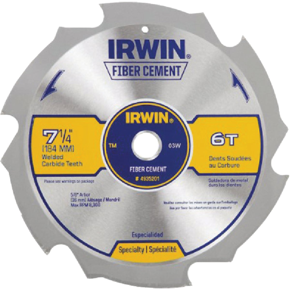 "7-1/4"" 6T WELDTEC BLADE - 1794385 by Irwin Industr Tool"