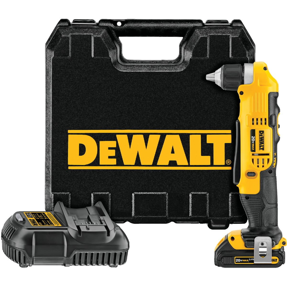 20V MAX RT ANGLE DRILL - DCD740C1 by DeWalt