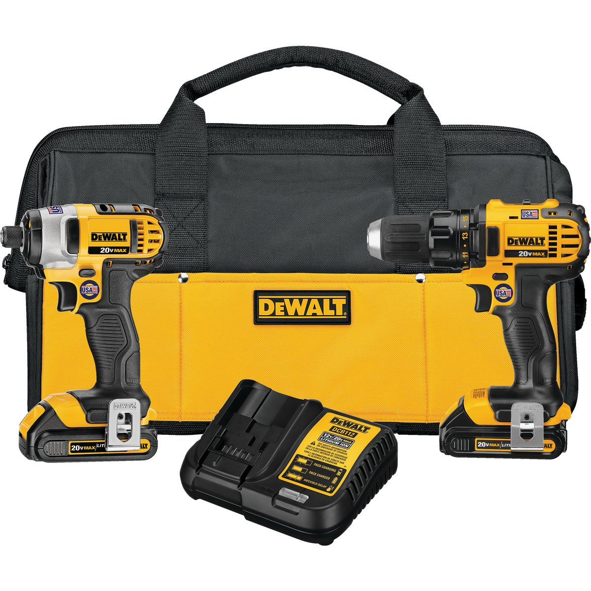 20V IMPACT/DRILL KIT - DCK280C2 by DeWalt