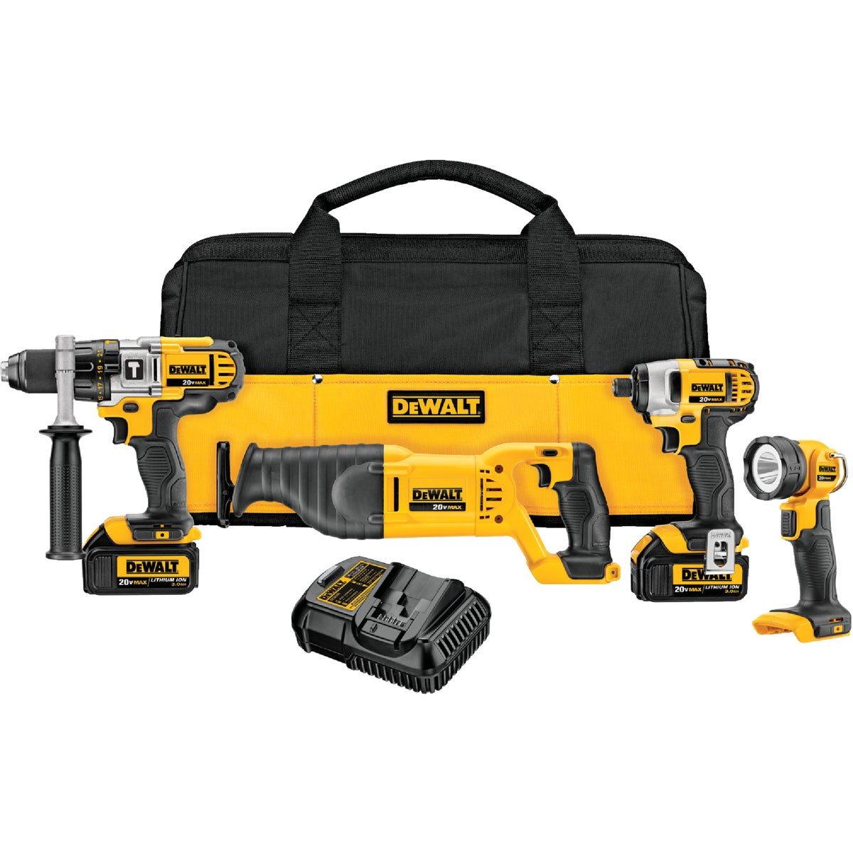 20V 4-TOOL COMBO KIT - DCK490L2 by DeWalt