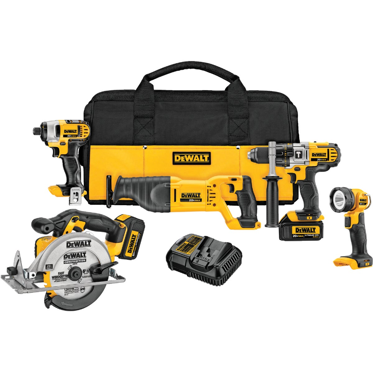 20V 5-TOOL KIT - DCK590L2 by DeWalt