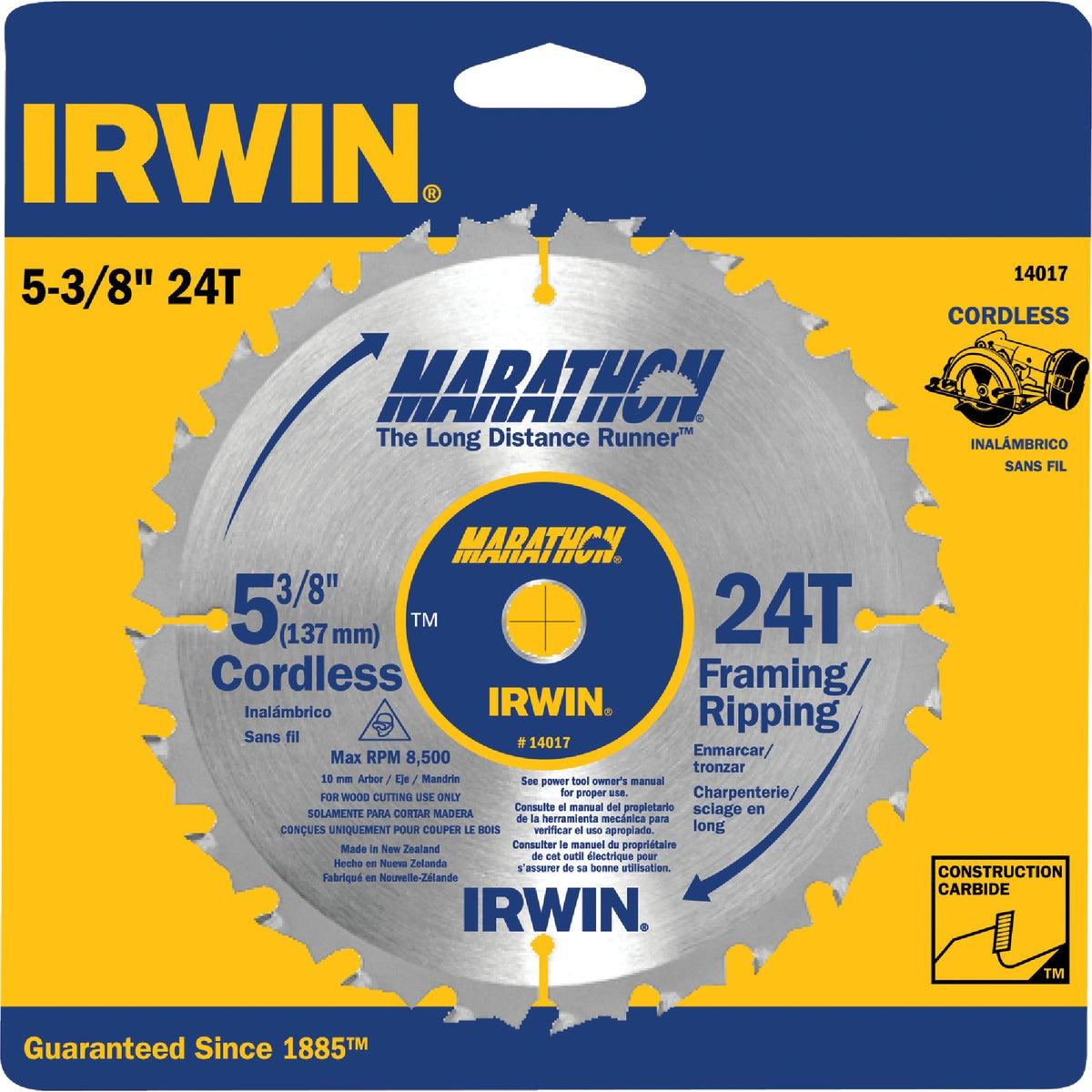"5-3/8""24T MARATHON BLADE - 14017 by Irwin Industr Tool"
