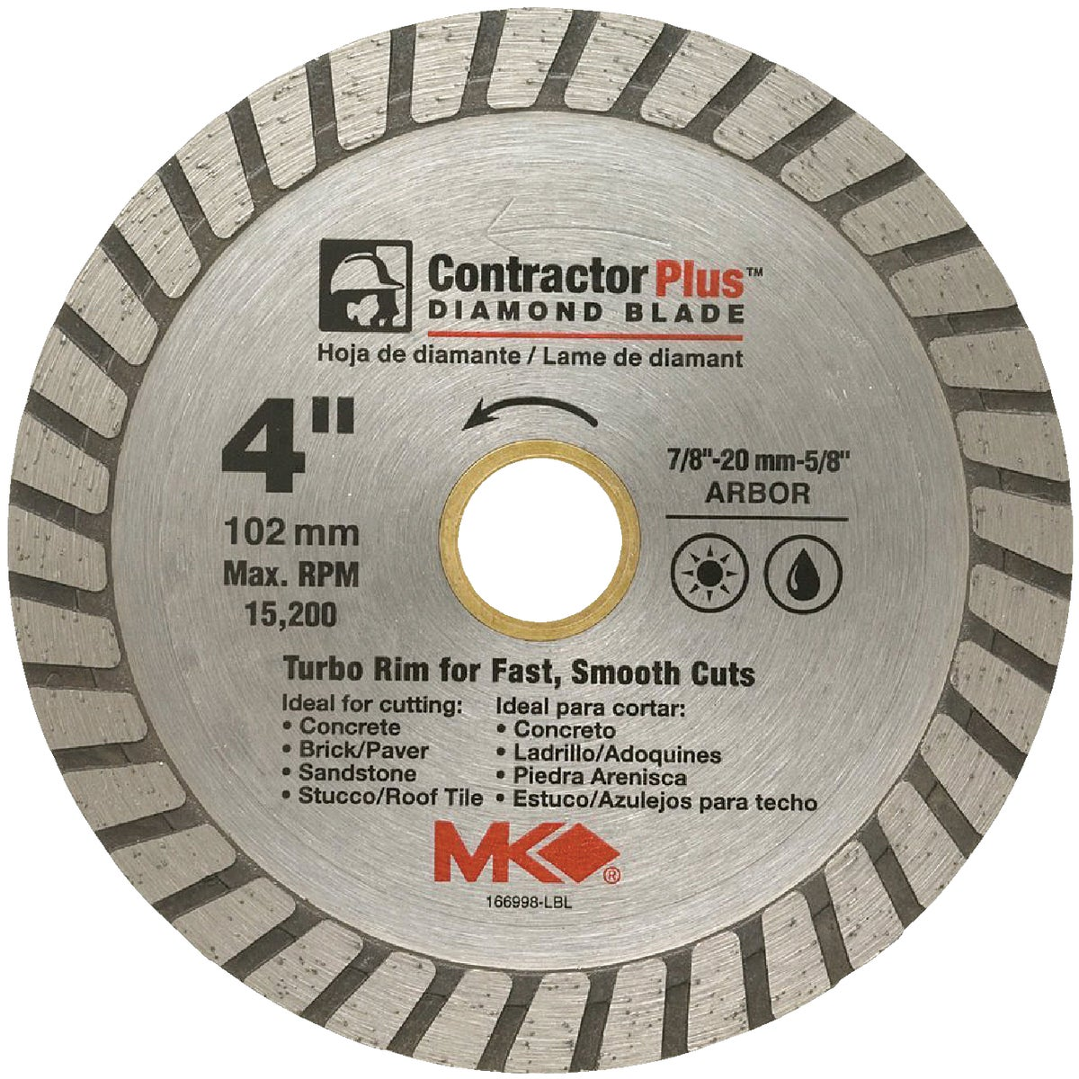 "4"" .080 WD DIAMOND BLADE - 166998 by M K Diamond Products"