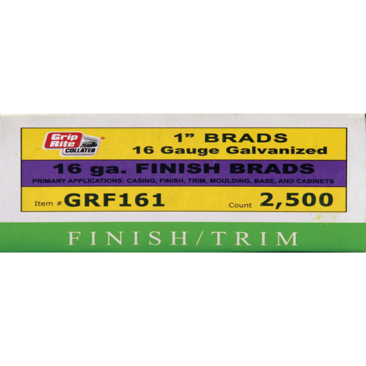 "1"" 16GA FINISH BRAD - GRF161 by Prime Source Pneumat"