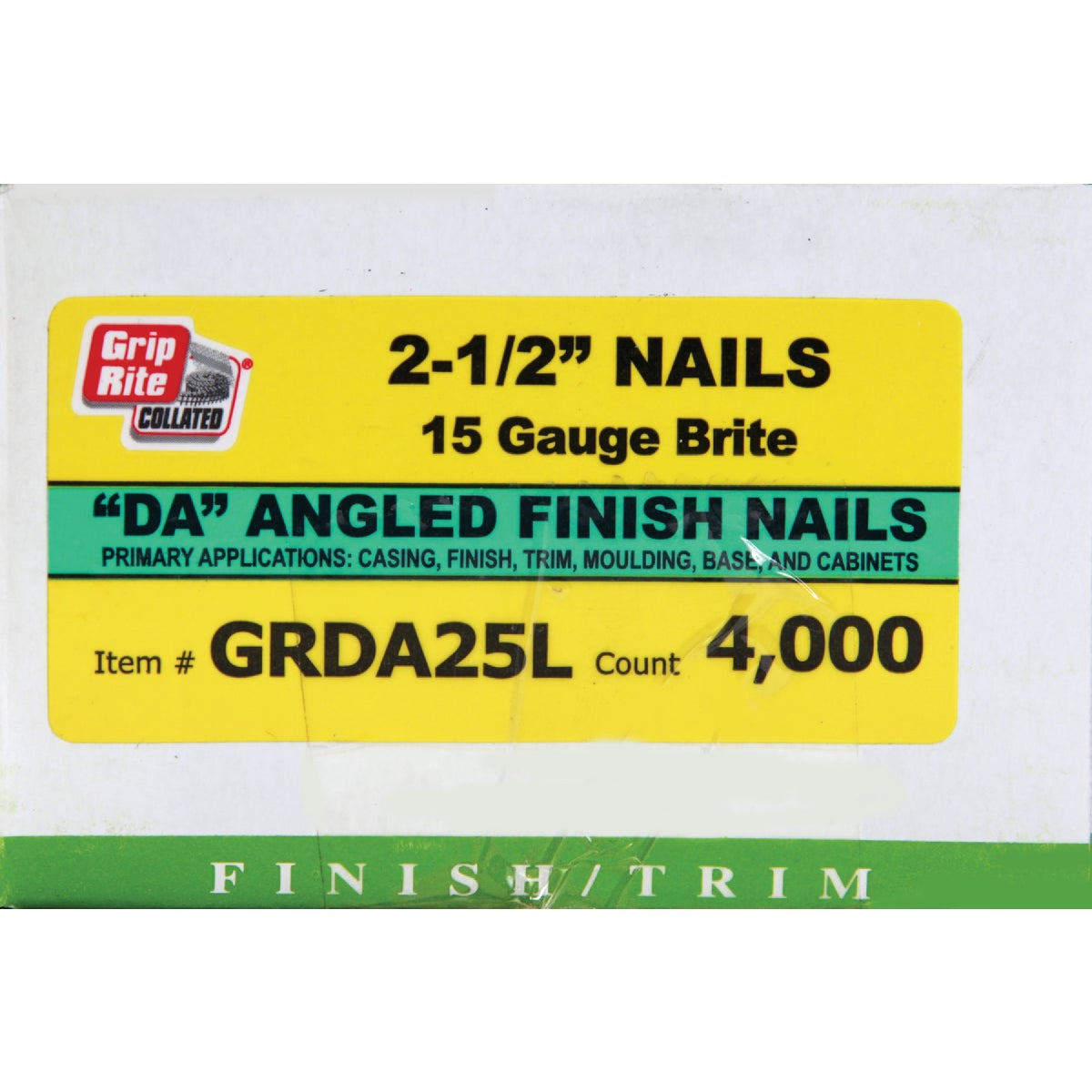 "2-1/2"" 15GA FINISH NAIL - GRDA25L by Prime Source Pneumat"