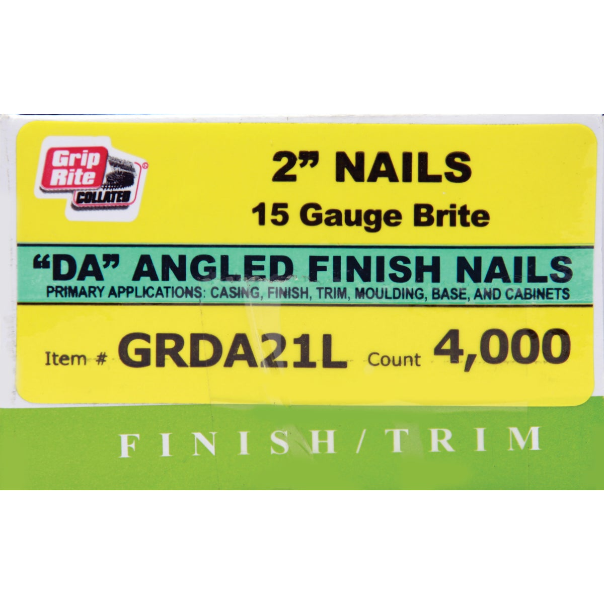 "2"" BRT 15GA FINISH NAIL - GRDA21L by Prime Source Pneumat"