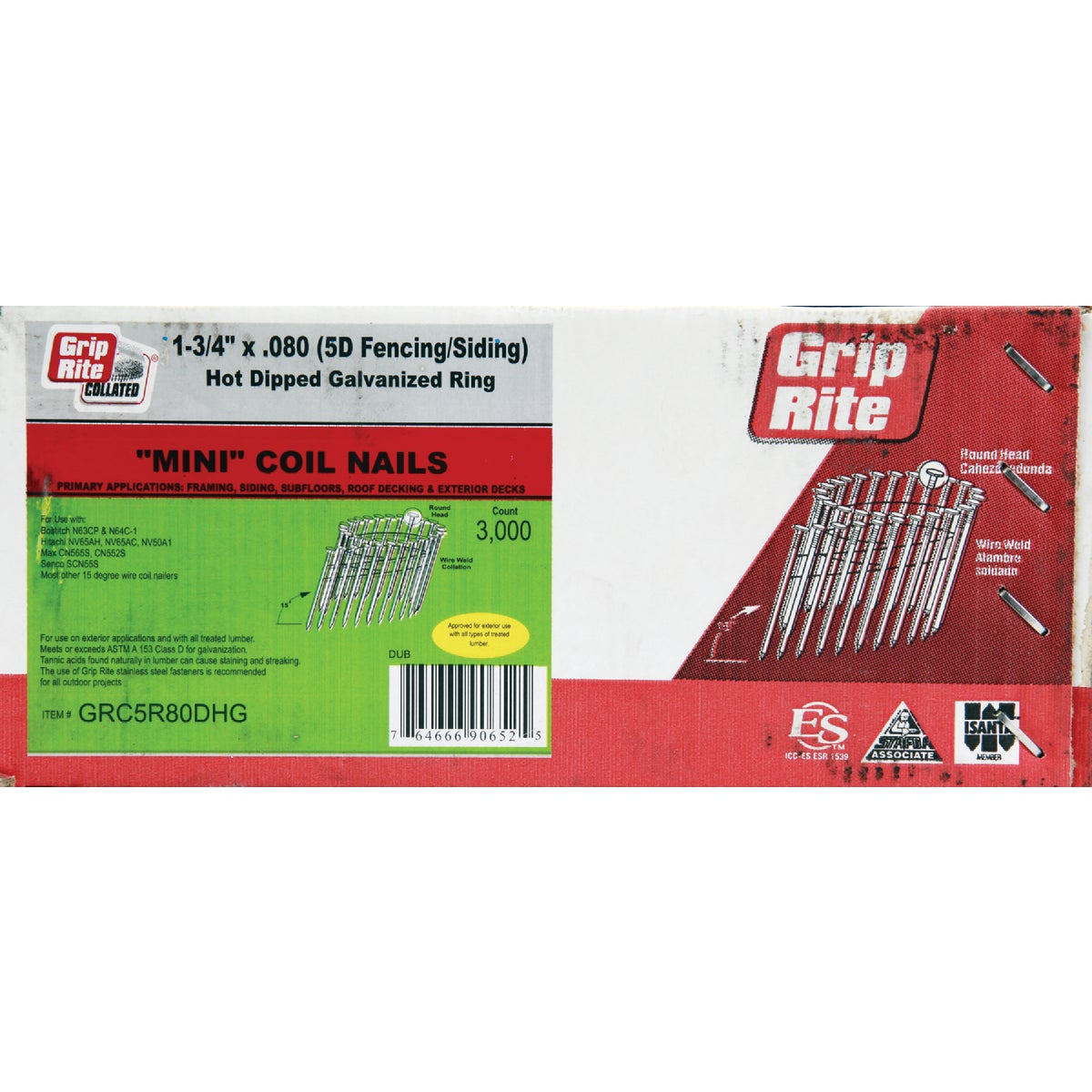 "1-3/4""X.080 FRAMING NAIL - GRC5R80DHG by Prime Source Pneumat"