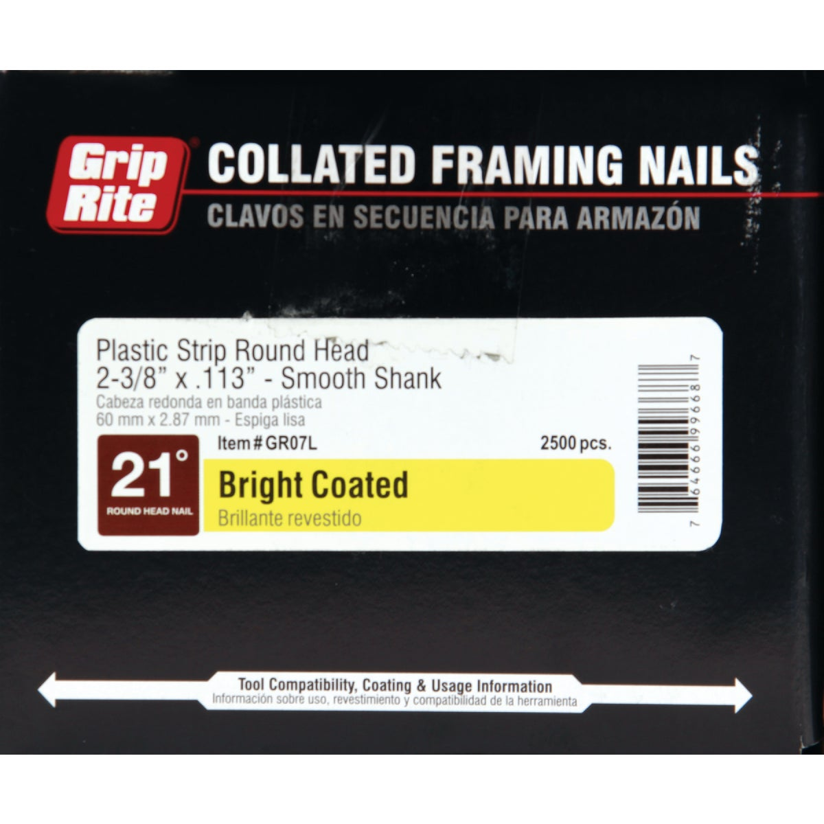 "2-3/8""X.113 FRAMING NAIL - GR07L by Prime Source Pneumat"