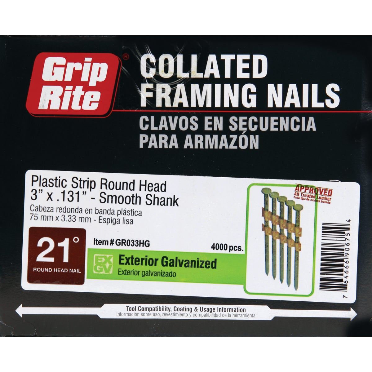 "3""X.131 FRAMING NAIL - GR033HG by Prime Source Pneumat"
