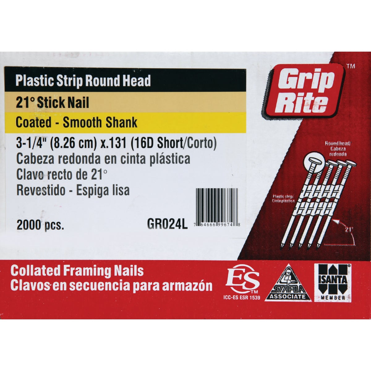 "3-1/4""X.131 FRAMING NAIL - GR024L by Prime Source Pneumat"