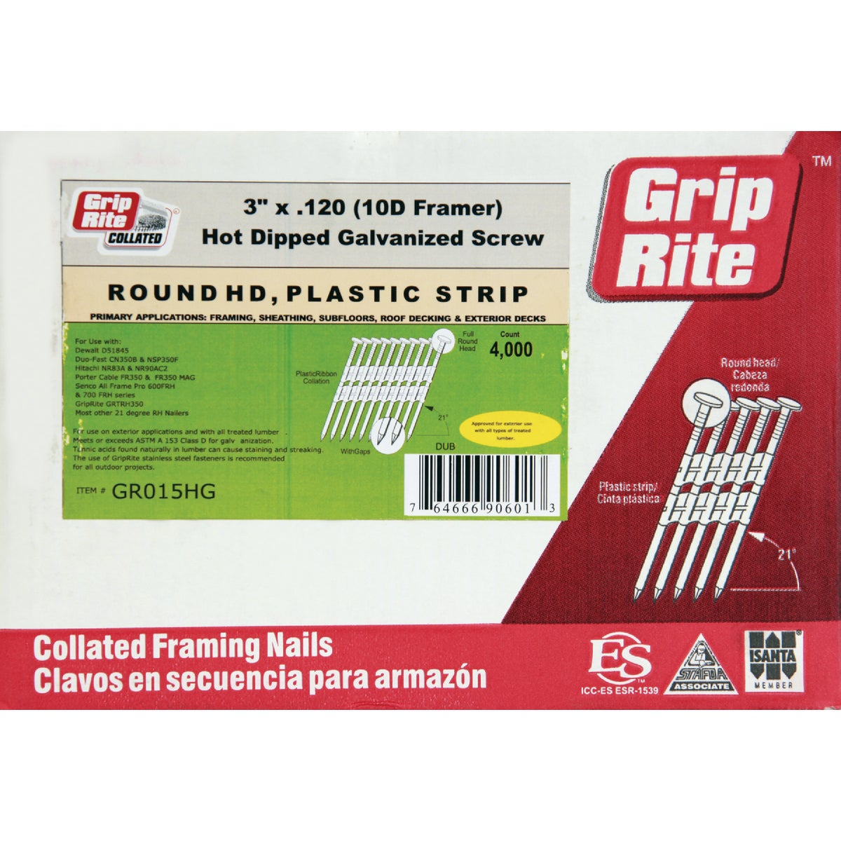 "3""X.120 FRAMING NAIL - GR015HG by Prime Source Pneumat"