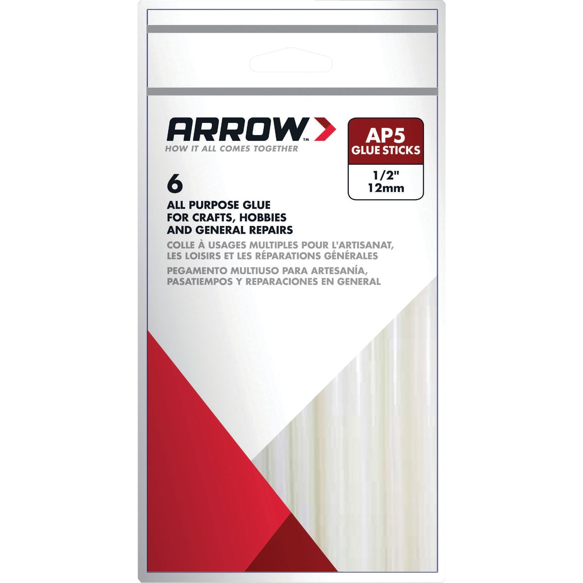 "6PK 4"" GLUE STICKS - AP5 by Arrow Fastener Co"