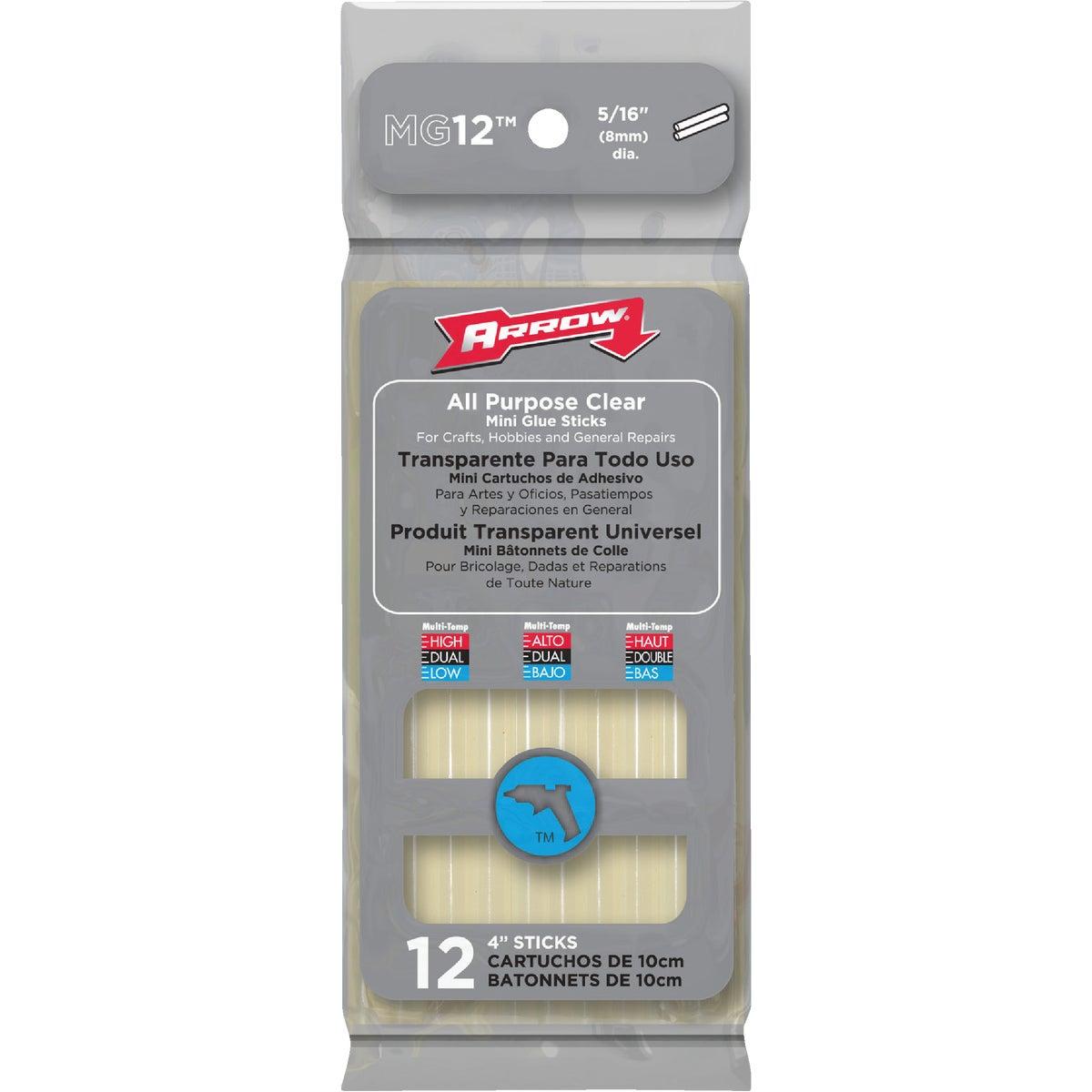 Arrow 4 In. Mini Clear Hot Melt Glue (12-Pack)
