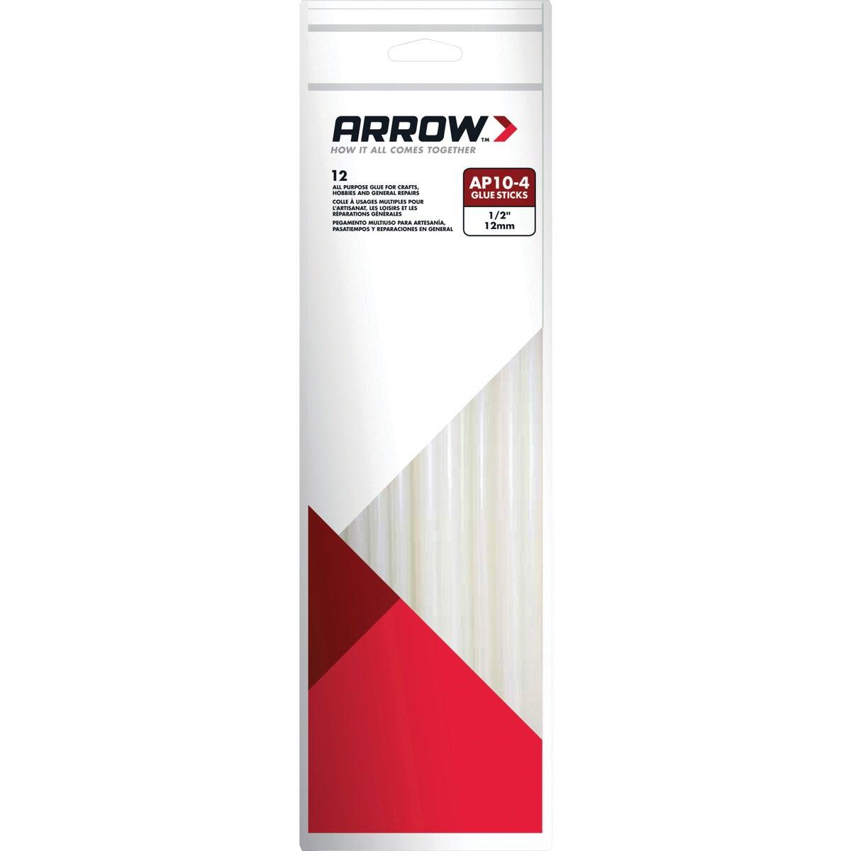 Arrow 10 In. Standard Clear Hot Melt Glue (12-Pack)