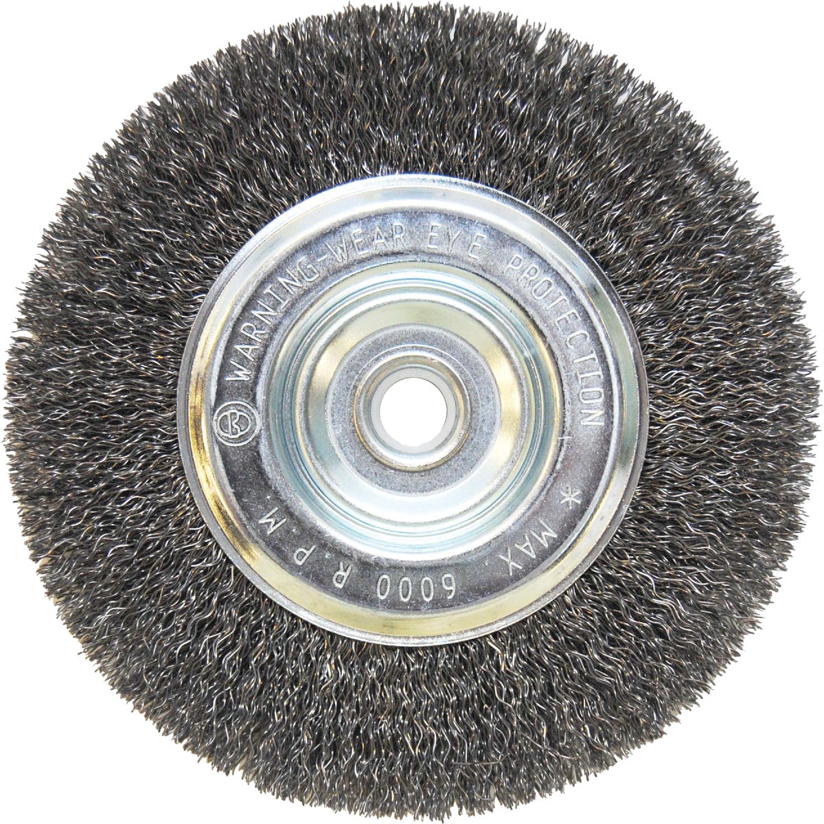 Weiler Vortec Pro Narrow Face Wire Wheel Brush, Round Hole, Carbon Steel, Cri...