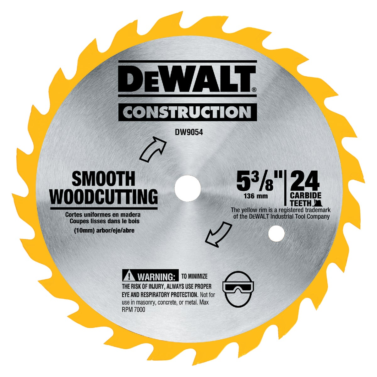 "5-3/8"" 24T CARBIDE BLADE - DW9054 by DeWalt"