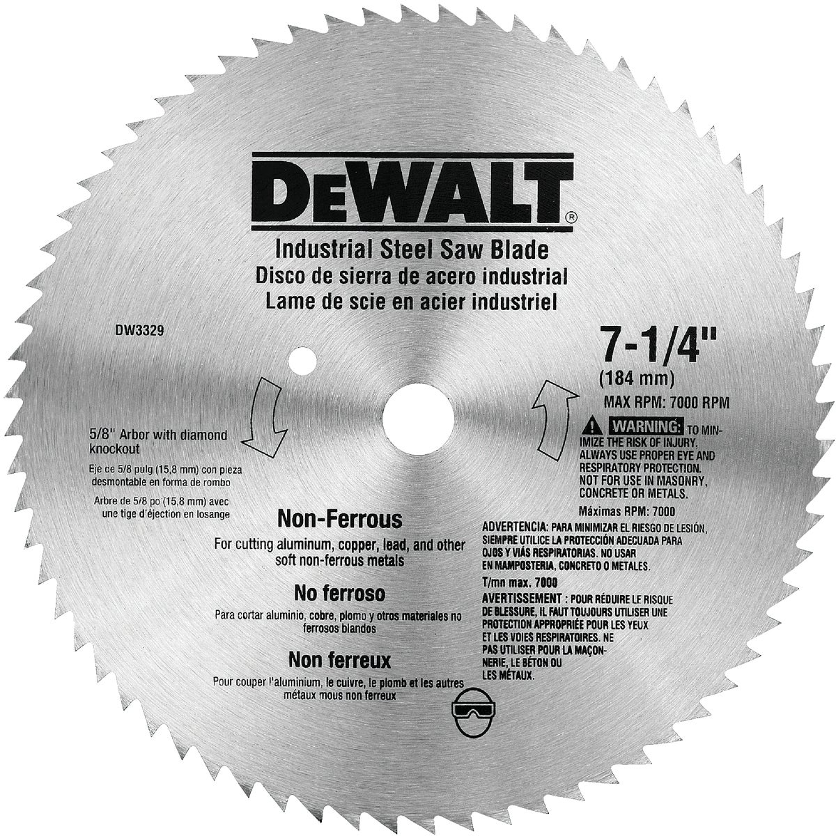 "7-1/4"" METAL CUT BLADE - DW3329 by DeWalt"