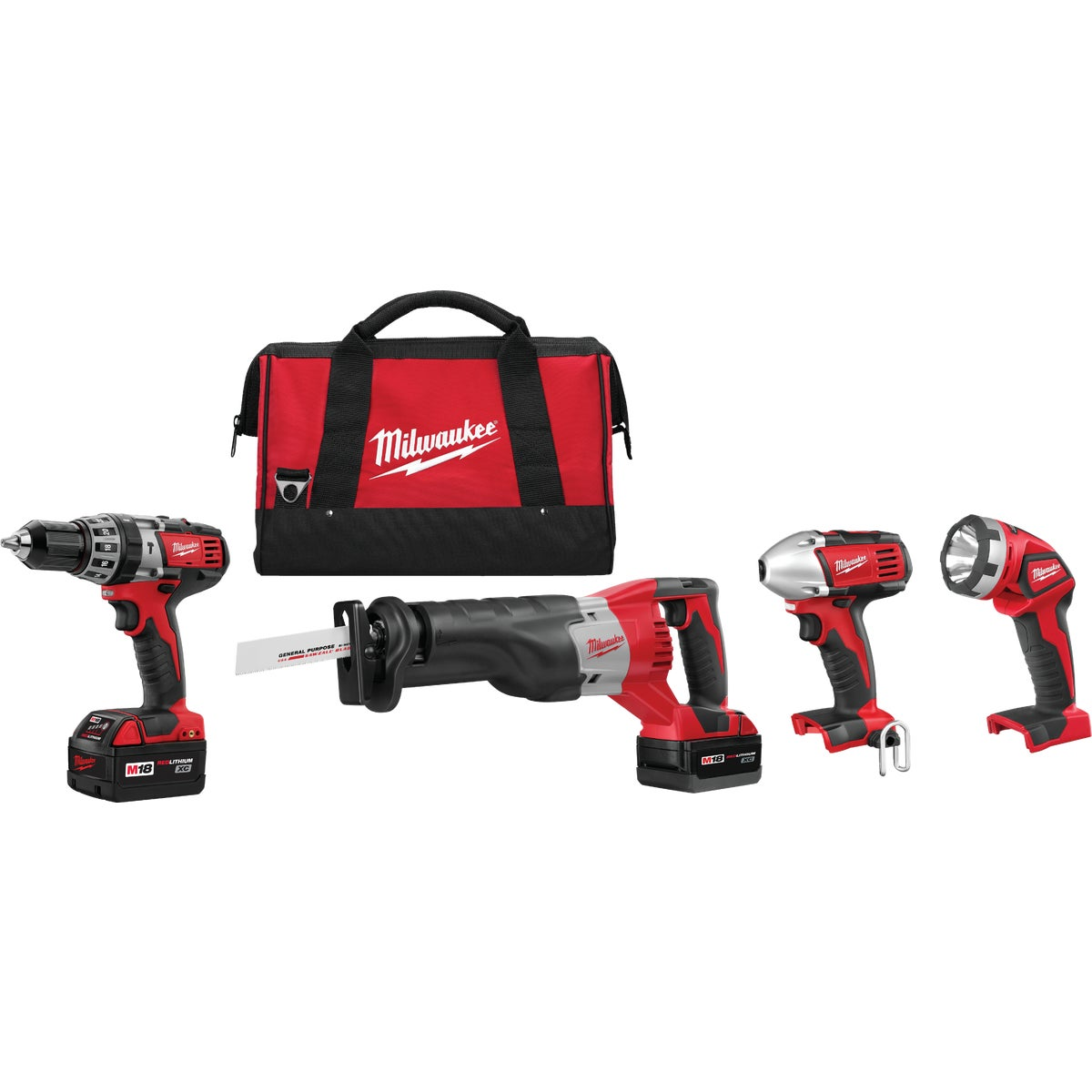 M18 4-TOOL COMBO KIT - 2696-24 by Milwaukee Elec Tool
