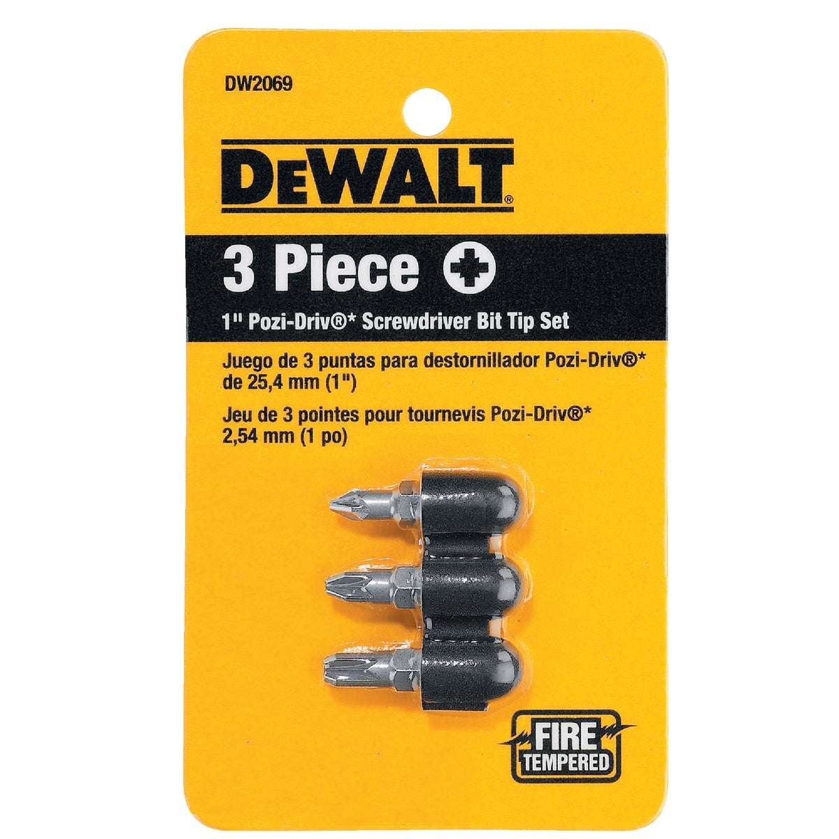 3PC POZIDRIV DRIVE SET - DW2069 by DeWalt