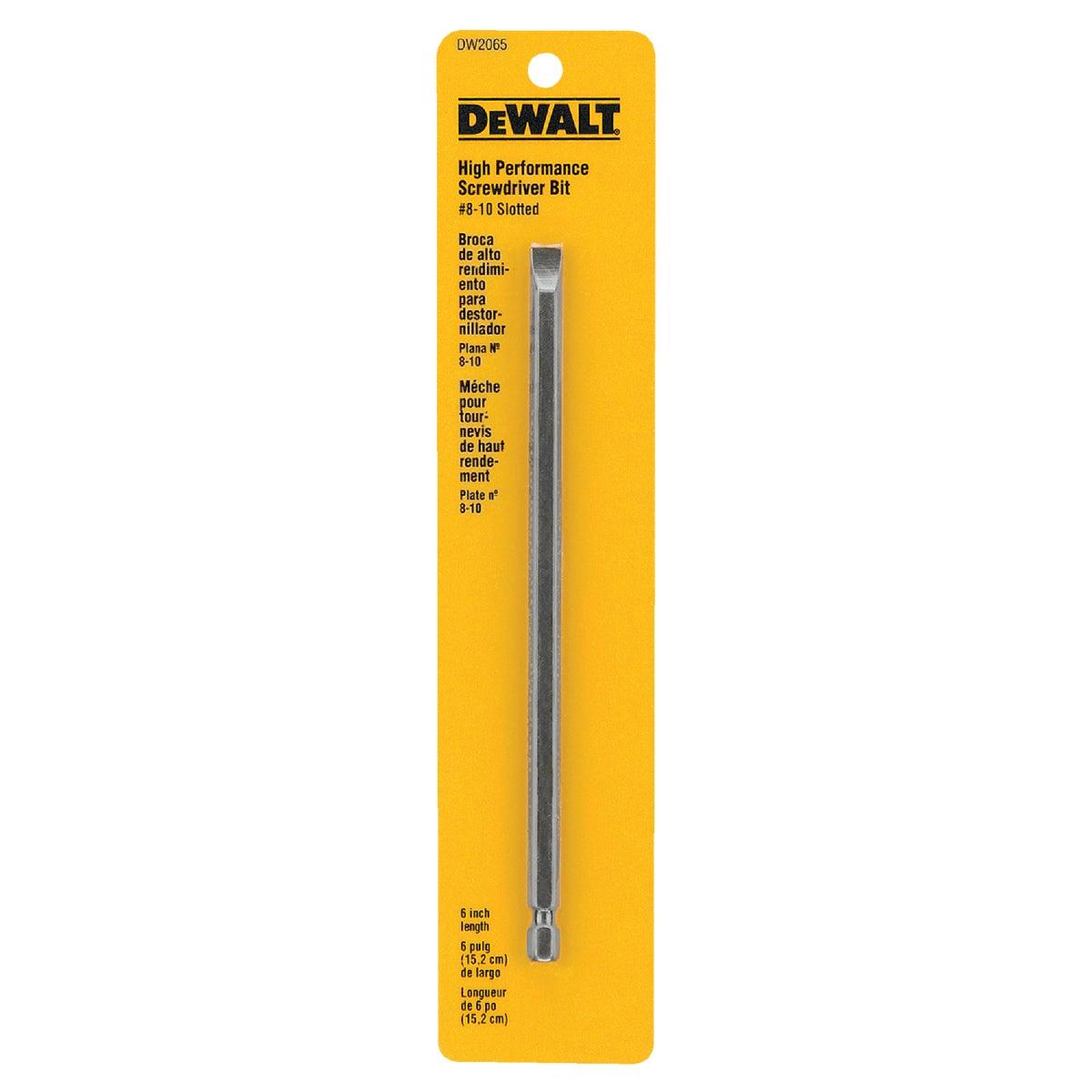 """#8/10 6"""" SLOTTED BIT - DW2065 by DeWalt"""