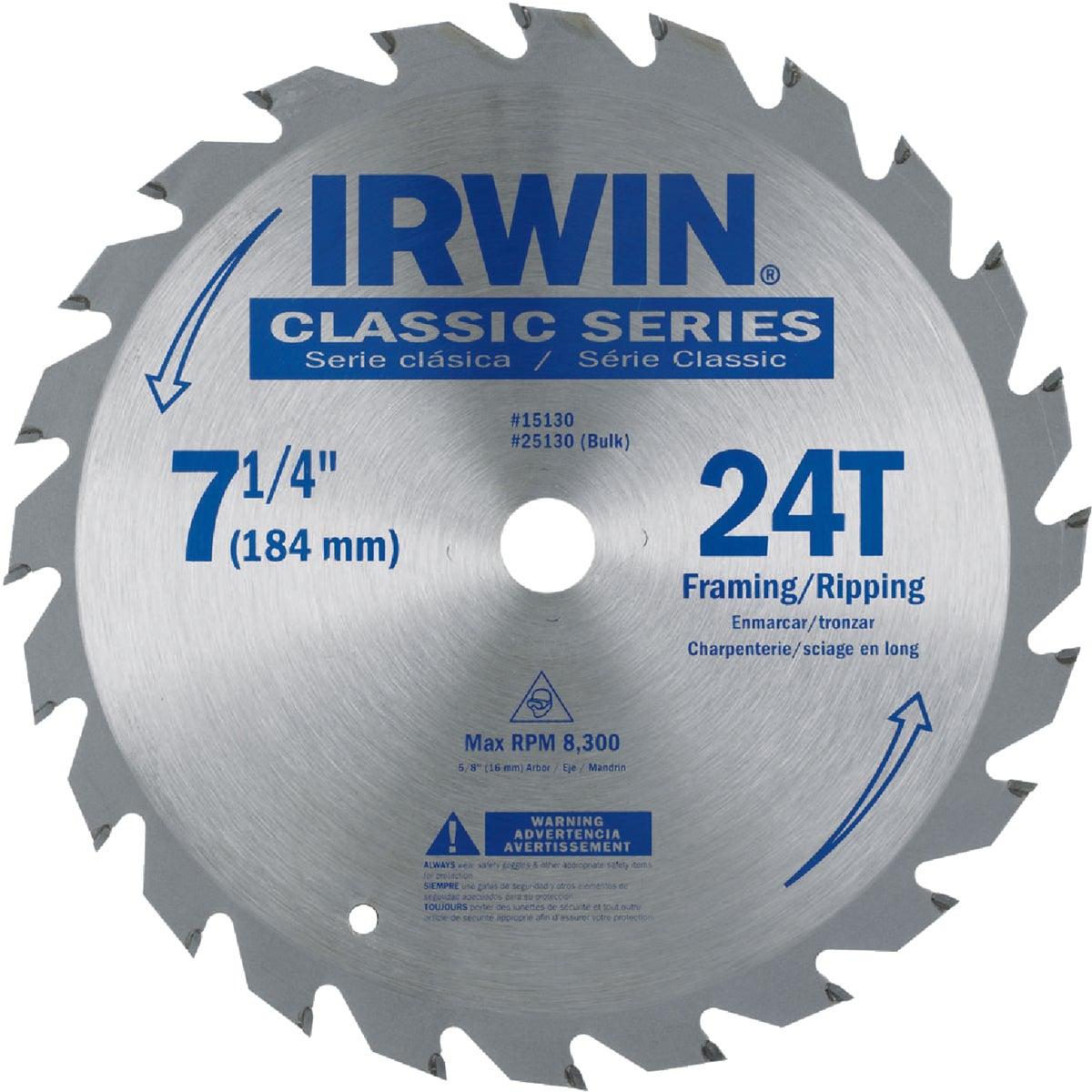 "7-1/4"" CIRCULAR BLADE - 25130 by Irwin Industr Tool"