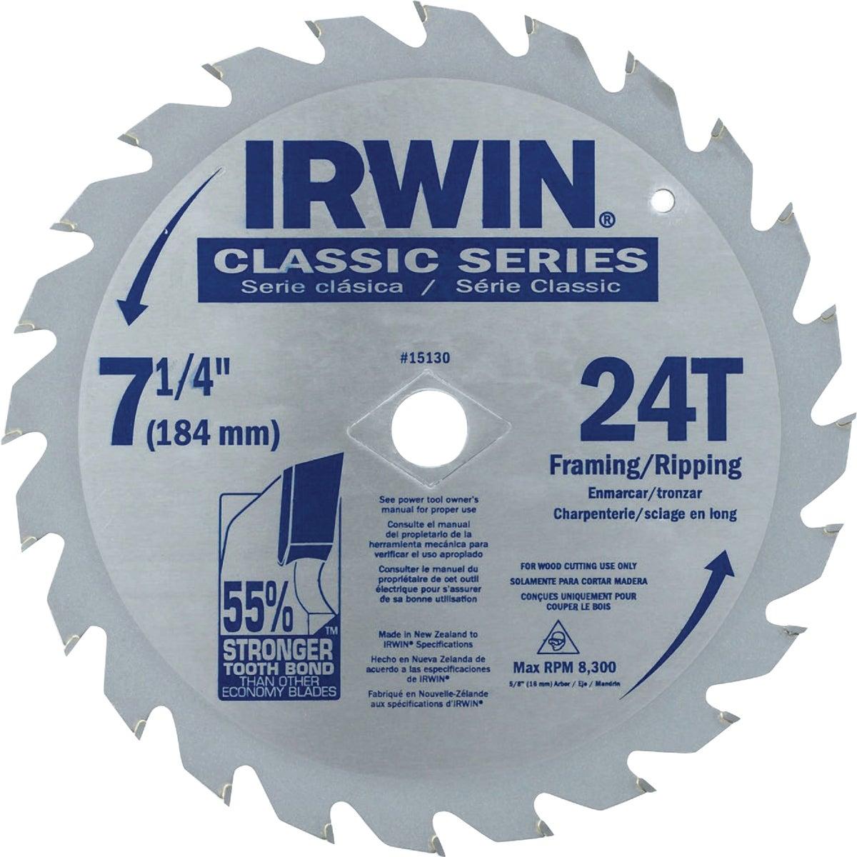 "7-1/4"" CIRCULAR BLADE - 15130 by Irwin Industr Tool"