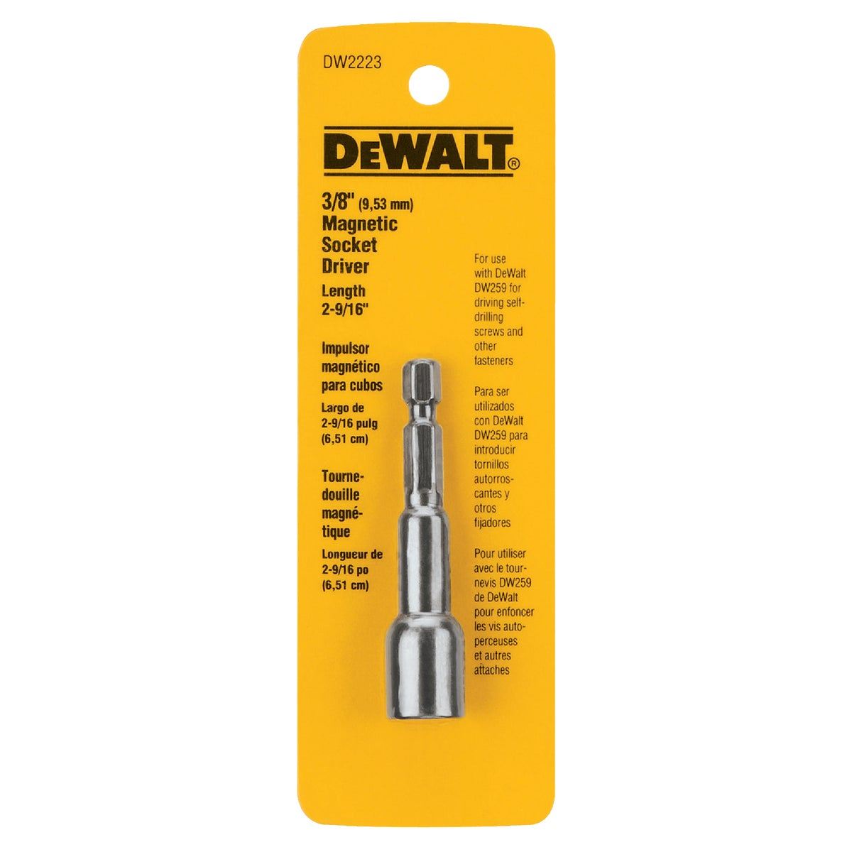 "3/8"" MAGNETIC NUT DRIVER - DW2223 by DeWalt"