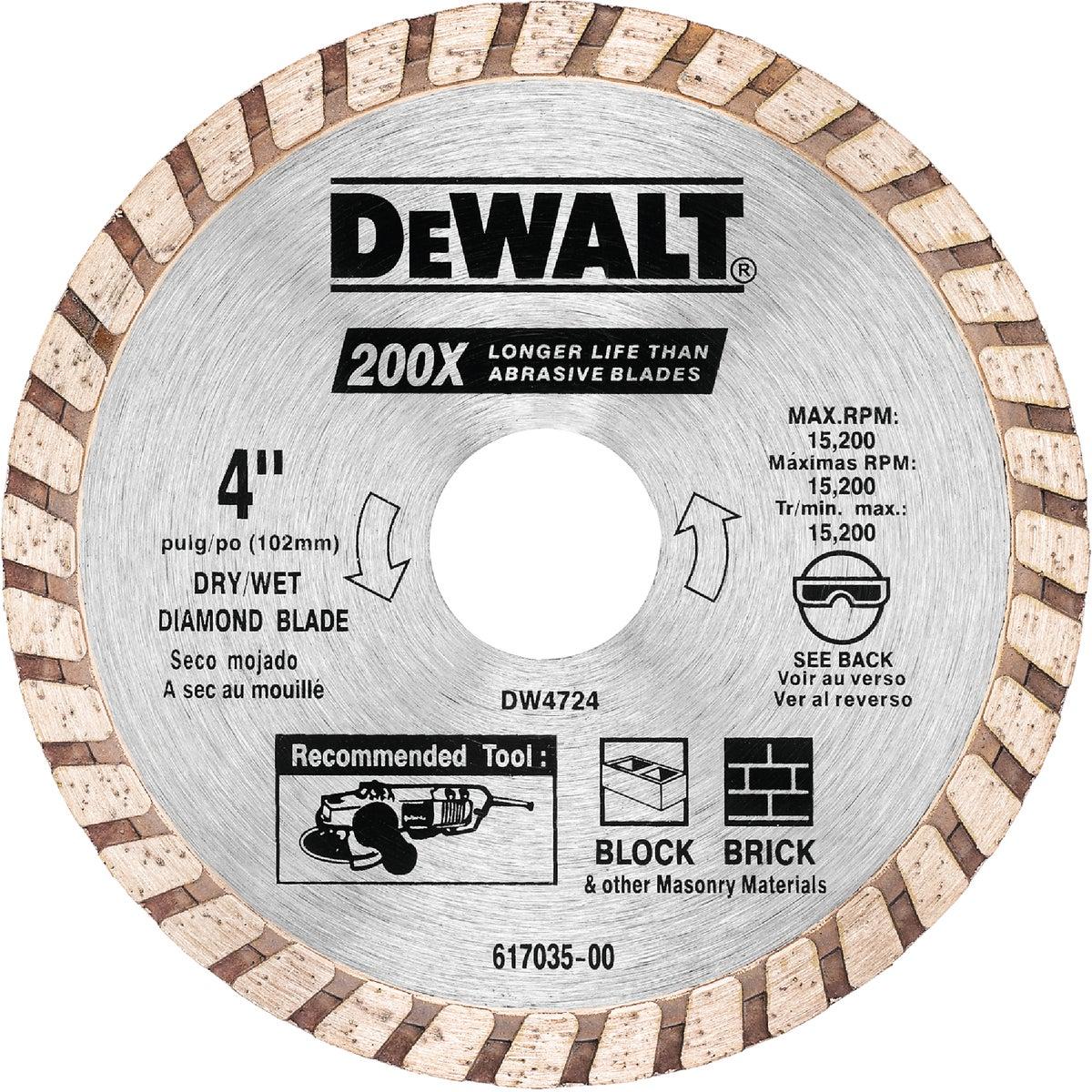 """4"""" MASONRY BLADE - DW4724 by DeWalt"""