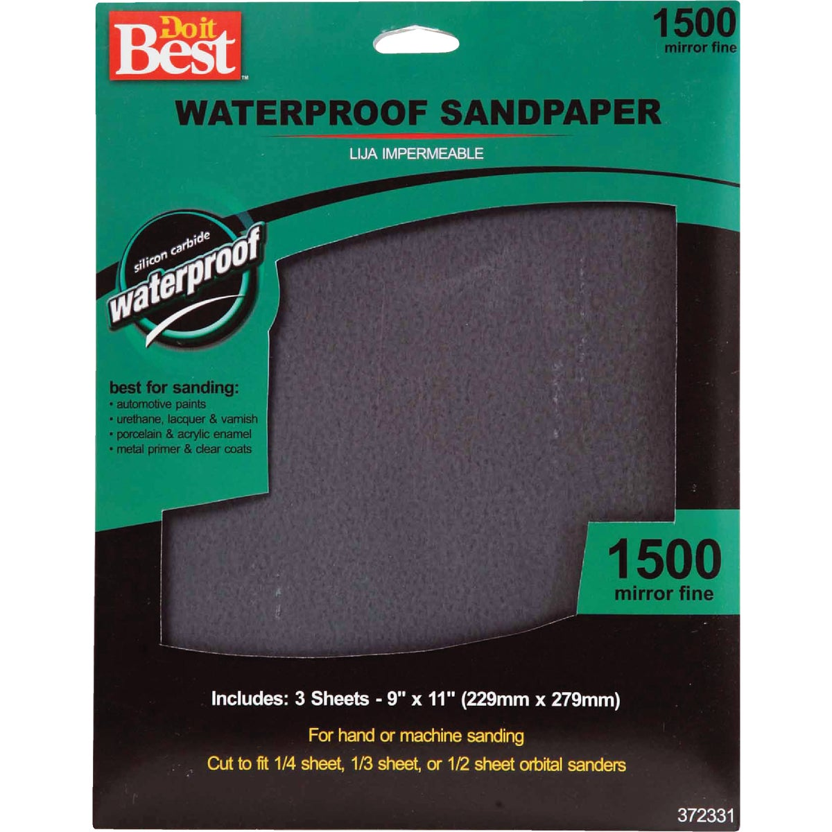 3PK MFINE WET SANDPAPER - 372331 by Ali Industries Inc