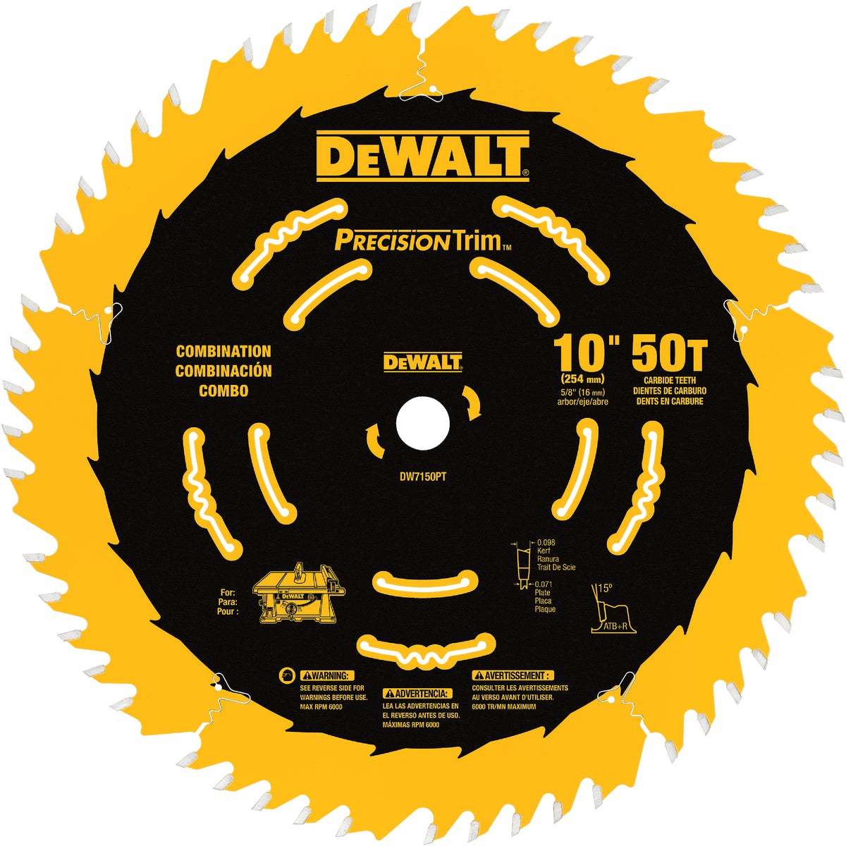 "10"" 50T COATED BLADE - DW7150PT by DeWalt"
