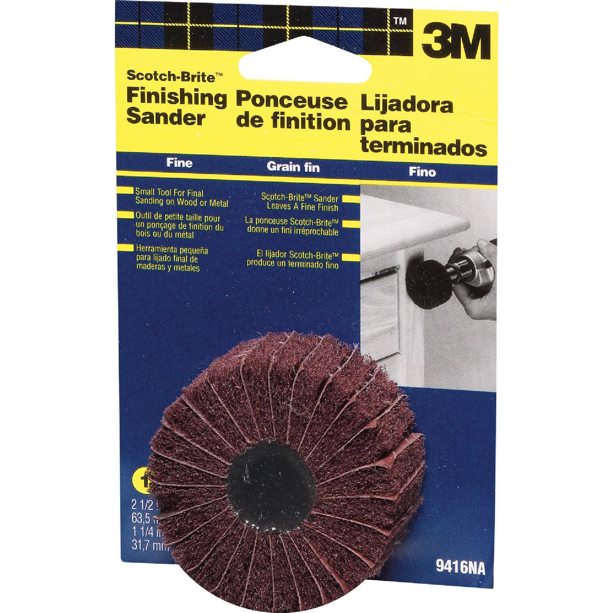 "2-1/2"" FINISHING SANDER - 9416NA by 3m Co"