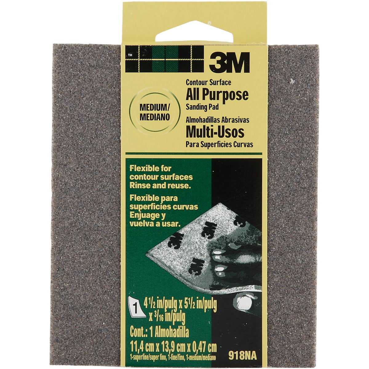 MEDIUM SANDING SPONGE - 918 by 3m Co
