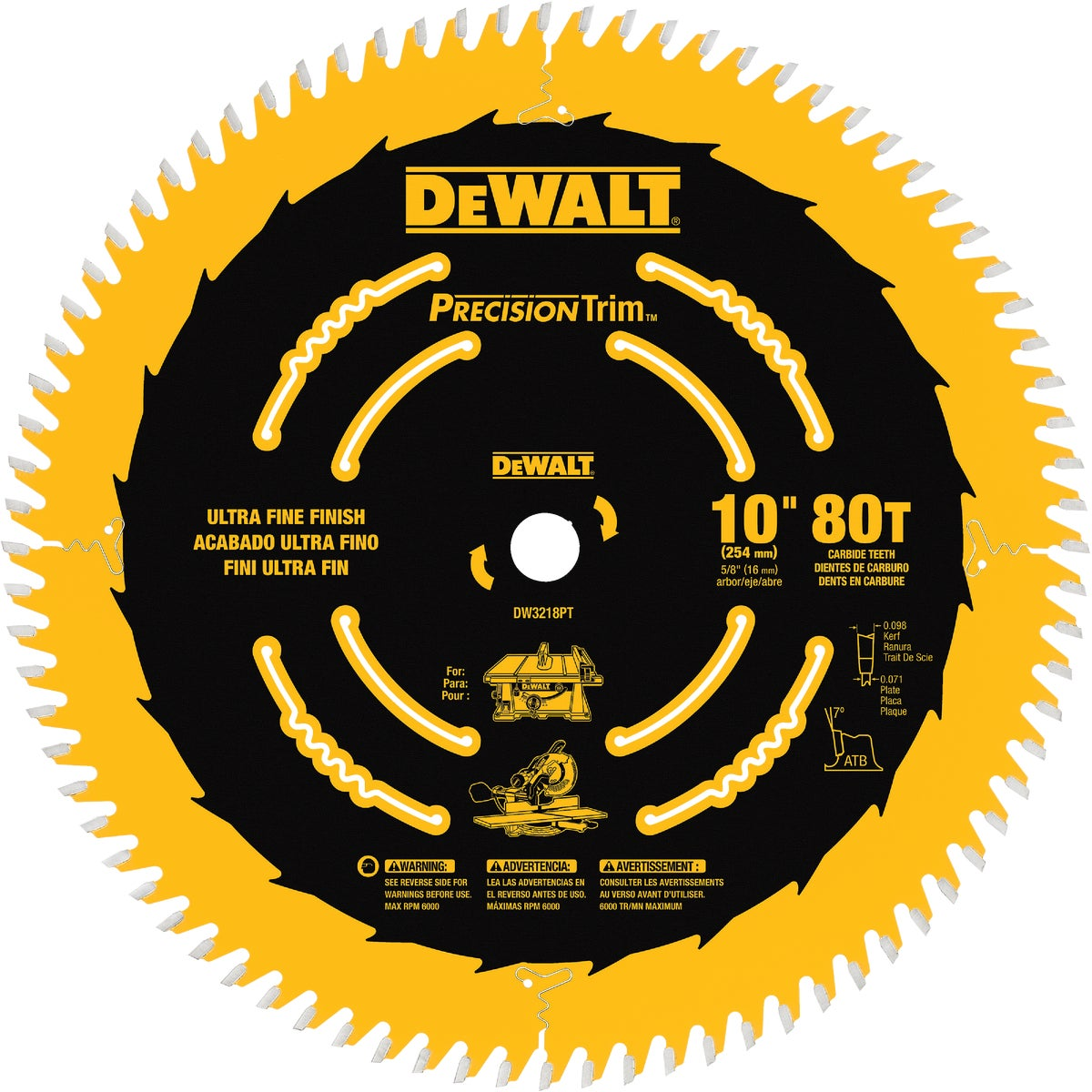 "10"" 80T COATED BLADE - DW3218PT by DeWalt"