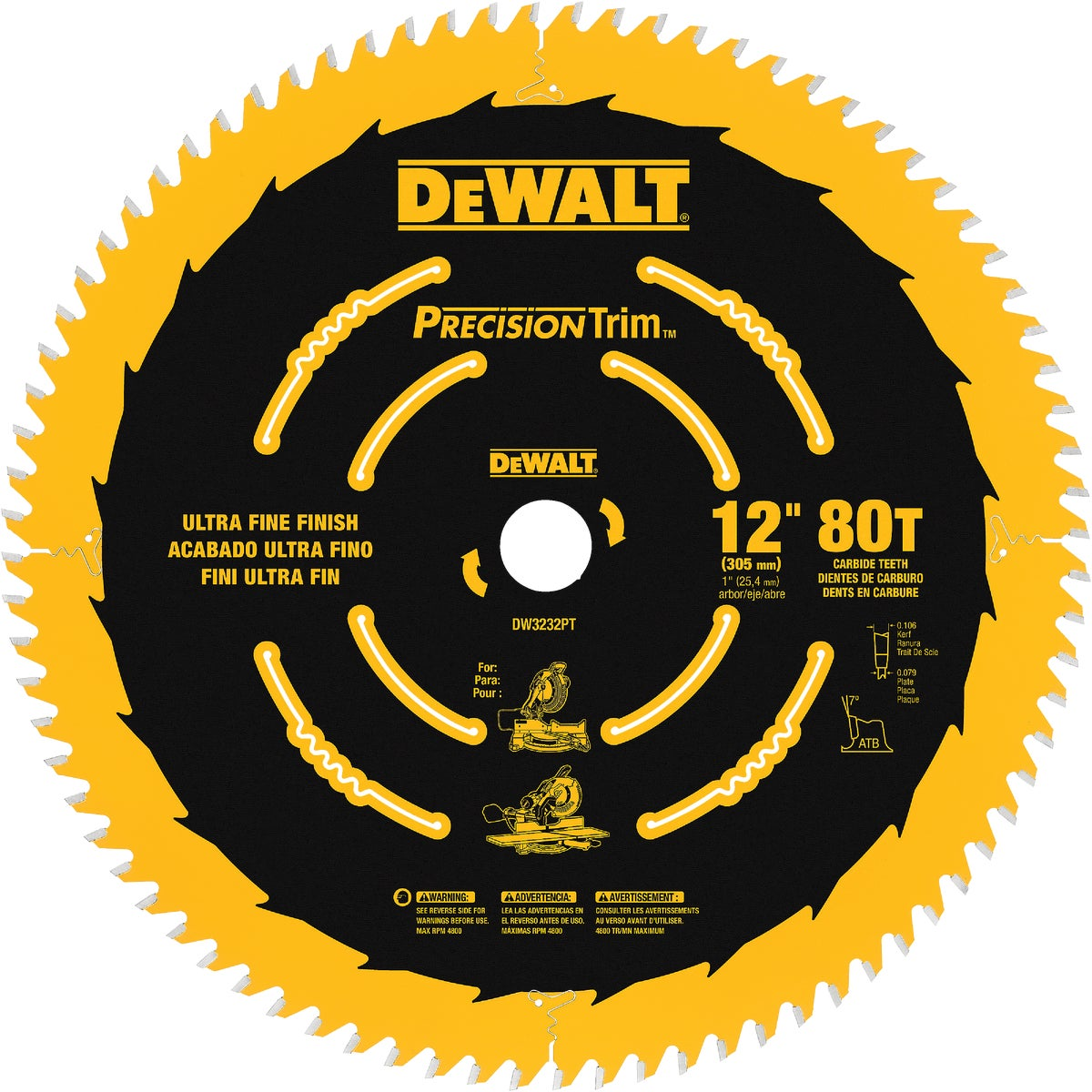 "12"" 80T COATED BLADE - DW3232PT by DeWalt"