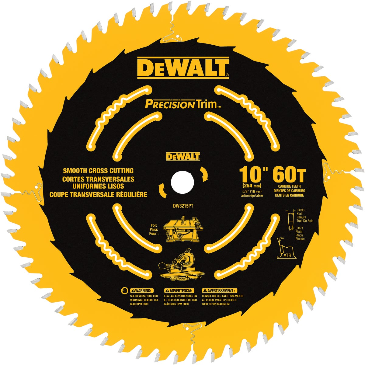 "10"" 60T COATED BLADE - DW3215PT by DeWalt"