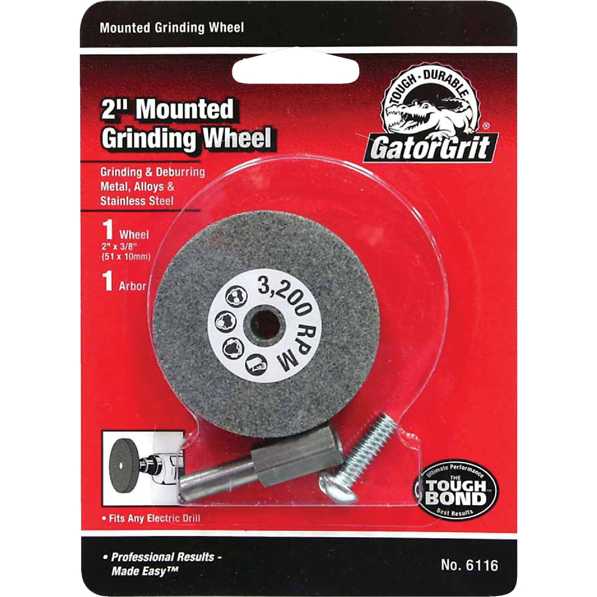 2X3/8 GRINDING WHEEL - 6116 by Ali Industries Inc