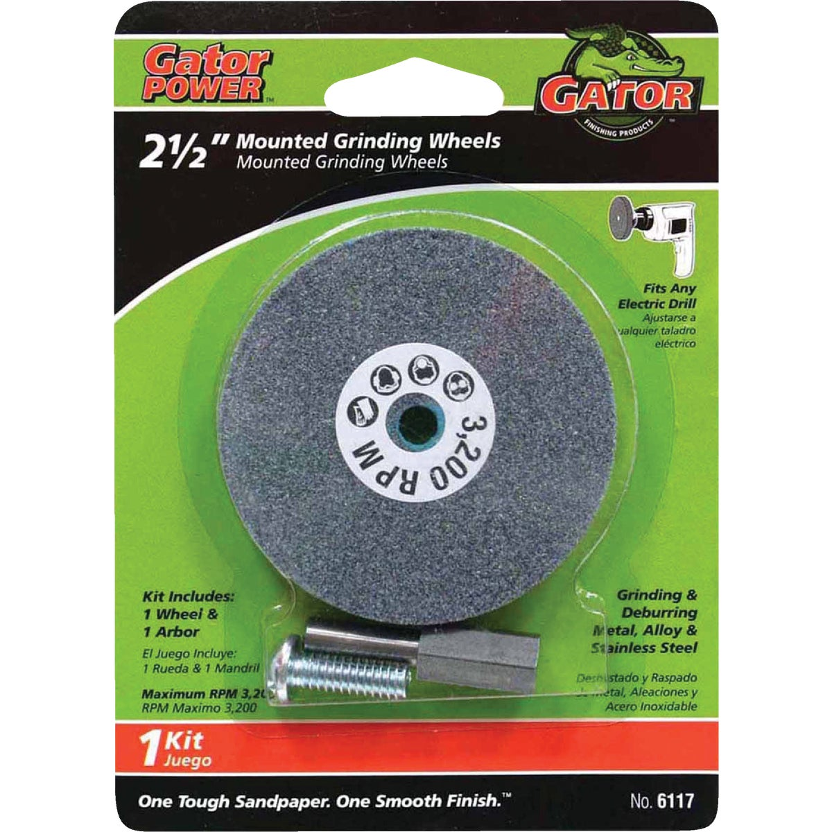 2-1/2X3/8 GRINDING WHEEL - 6117 by Ali Industries Inc